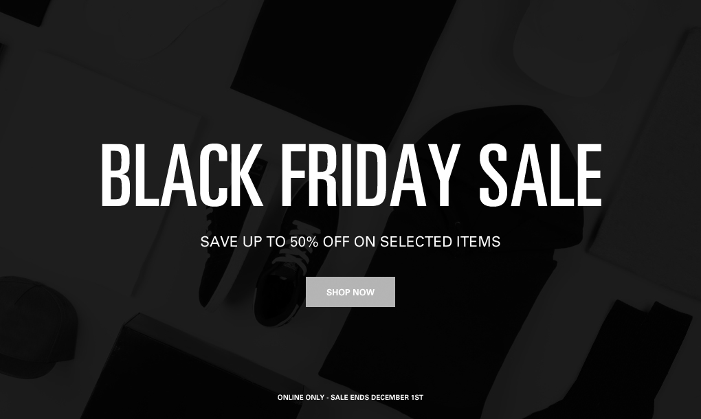 Black Friday Sale! Save up to 50% OFF!