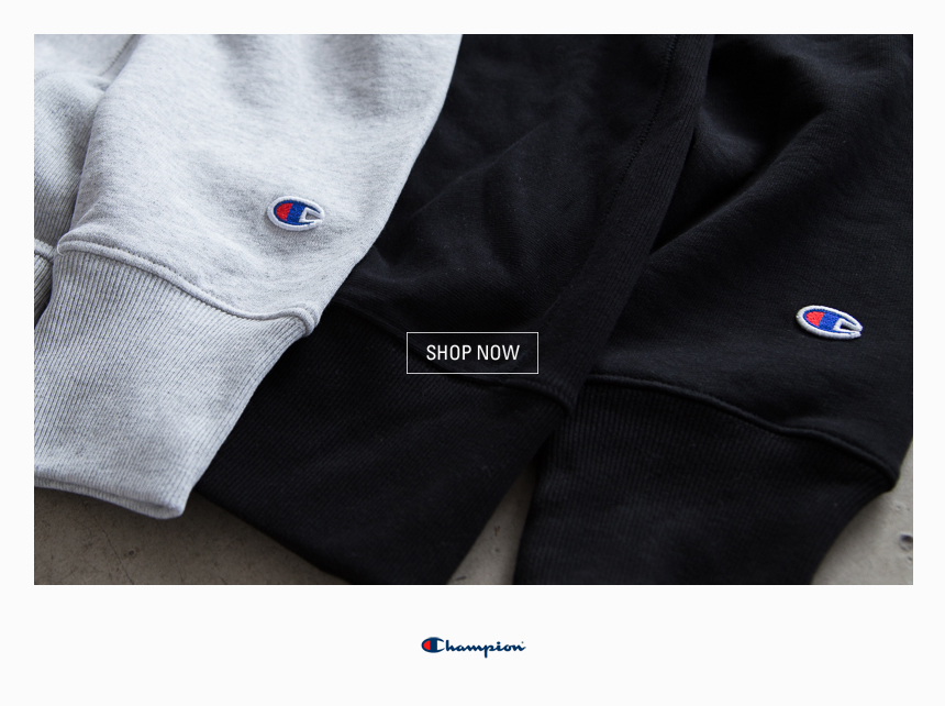 dae2b5623558 Champion (Authentic Athletic Apparel). We re happy to kick off the spring  season with brand new arrivals from the sportswear pioneers
