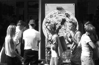 Spin and win! Wheel of Fortune - Street Machine. Kronprinsensgade Havefest / Street Party Pictures #CPHFW - Copenhagen Fashion Week