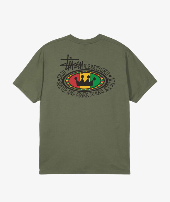 Stussy - Rasta Oval Pigment Dyed Tee