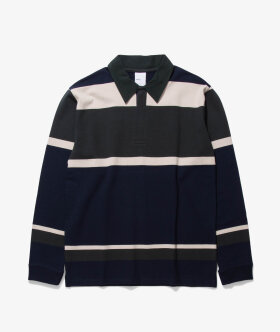 Horizontal Stripe Rugby Shirt by Adsum - Shop now